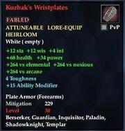 Kuzbak's Wristplates