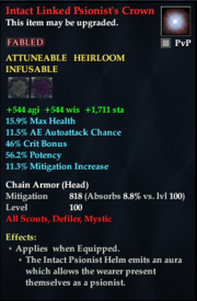 Intact Linked Psionist's Crown