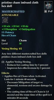 Pristine chaos imbued cloth hex doll
