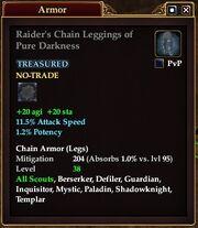 Raider's Chain Leggings of Pure Darkness