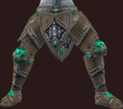 Vesspyr Warrior's Bronze Greaves (Equipped)