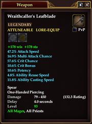 Wraithcaller's Leafblade