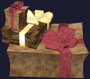 Leather wrapped gift boxes (Visible)