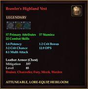 Brawler's Highland Vest