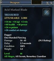 Acid Marked Blade