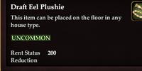 Draft Eel Plushie