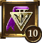 Icon Achievement purple triangle medal 10