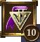 Icon Achievement purple triangle medal 10