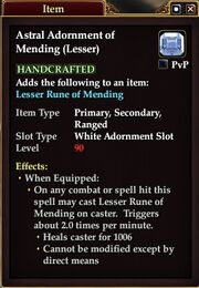 Astral Adornment of Mending (Lesser)