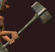 Imbued Iron Sledge (Equipped)