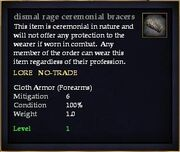 Dismal rage ceremonial bracers