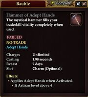 Hammer of Adept Hands