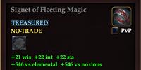 Signet of Fleeting Magic