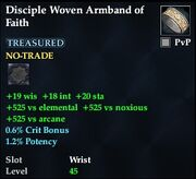 Disciple Woven Armband of Faith