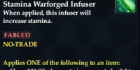 Reconstructed Advanced Stamina Warforged Infuser