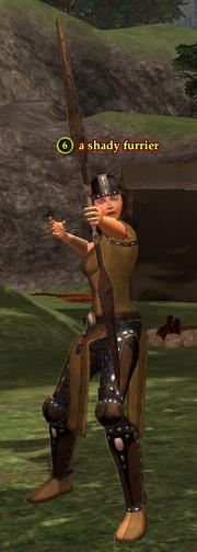A shady furrier (half elf)
