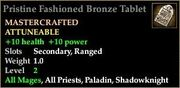 Fashioned Bronze Tablet