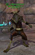A treasury patron (gnoll)