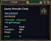 Jaunty Brocade Cloak