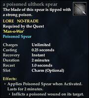 A poisoned ulthork spear