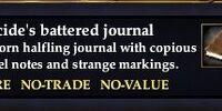 Ilucide's battered journal