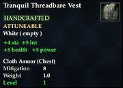 Tranquil Threadbare Vest