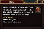 Why We Fight, Chronicle One (Quest Starter)