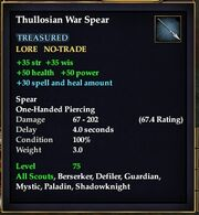Thullosian War Spear