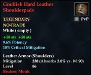 Gnollish Hard Leather Shoulderpads