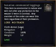 Tunarian ceremonial leggings