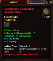 Rainkeeper's Blood Moon Shoulder Pads