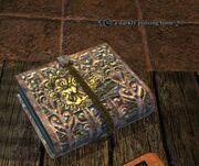 A darkly pulsing tome