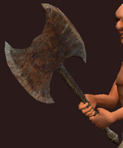 Iron Double Headed Axe (Equipped)
