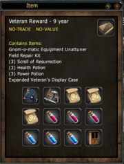 Veteran Reward - 9 years