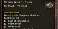 Veteran Reward - 9 years