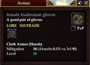 Female tradesman gloves
