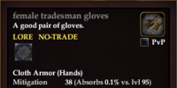 Female tradesman gloves