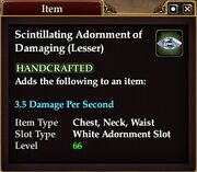 Scintillating Adornment of Damaging (Lesser)