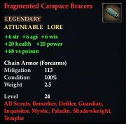 Fragmented Carapace Bracers