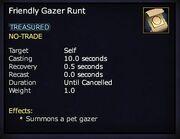 Friendly Gazer Runt