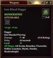 Iron Ritual Dagger