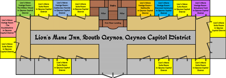 Lion's Mane Inn Floorplan