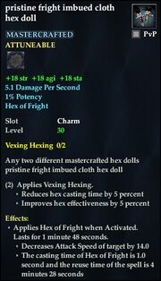 Pristine fright imbued cloth hex doll