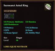 Sacrosanct Astral Ring