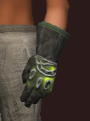 Viridian Gloves of Autumn (Equipped)