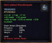 Horn-plated Shoulderpads