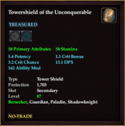 Towershield of the Unconquerable