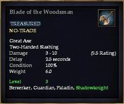 Blade of the Woodsman