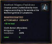 Sootfoot Magma Pauldrons