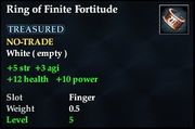 Ring of Finite Fortitude